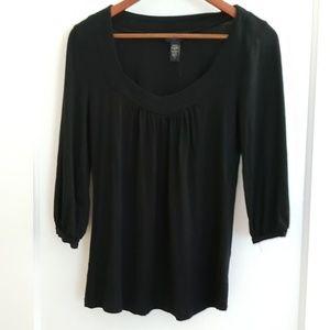 Banana Republuc | S black 3/4 length sleeve top